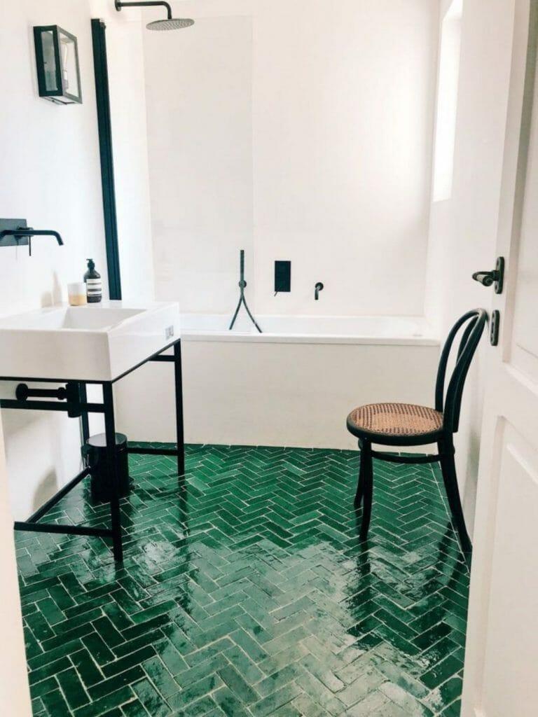 styl śródziemnomorski w łazience