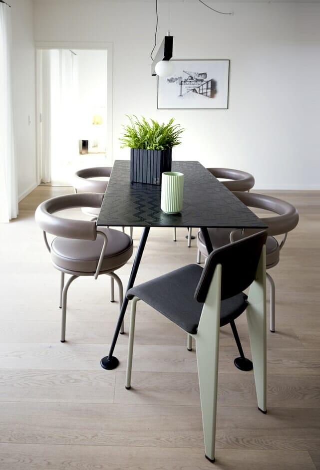 nowoczesny zestaw stol i krzesla