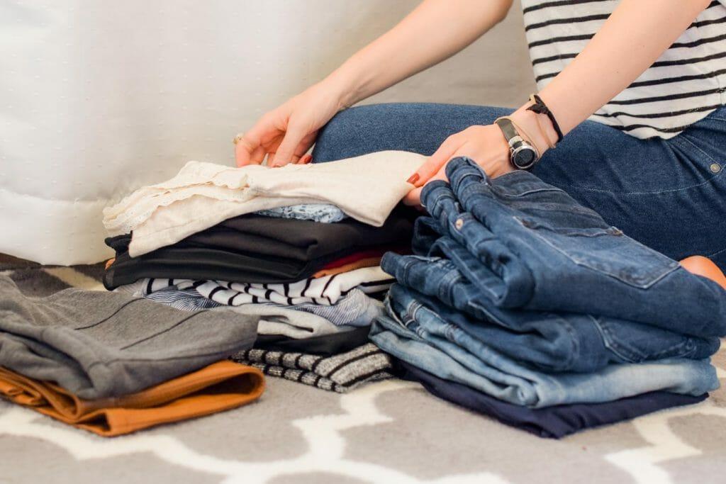 wyrzuć stare ubrania