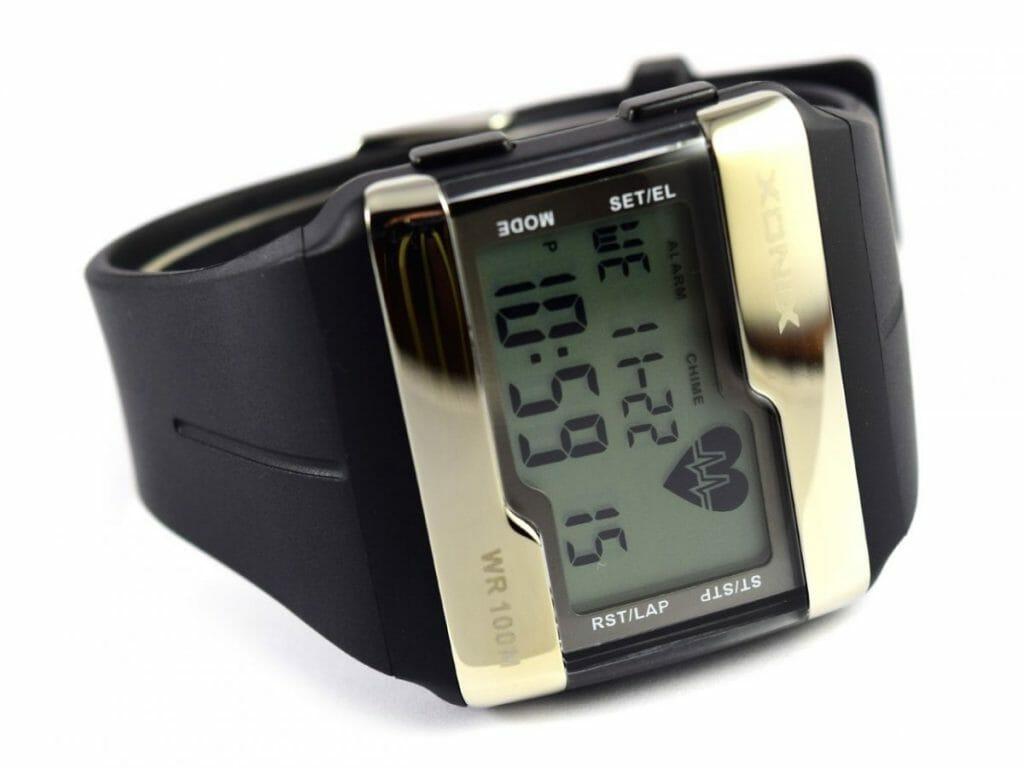zegarki z pulsometrem xonix kolor złoty i czarny