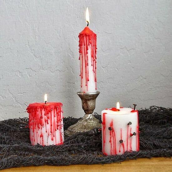 straszne świeczki