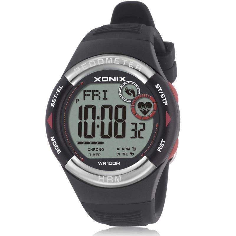 zegarki z pulsometrem xonix czarny