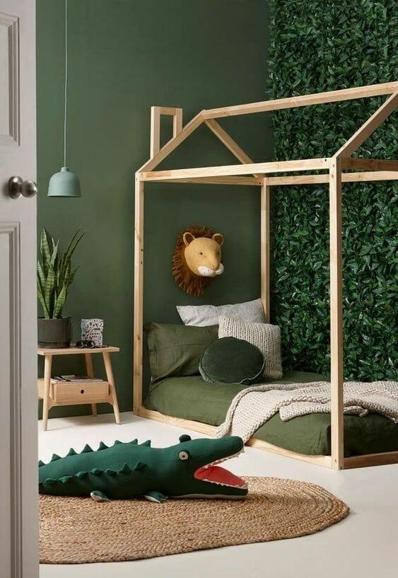 zielone Pokoje dziecięce - aranżacje
