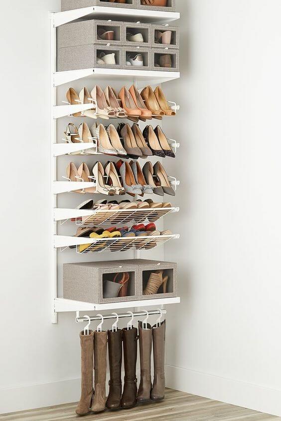 pomysly jak przechowywac buty w domu