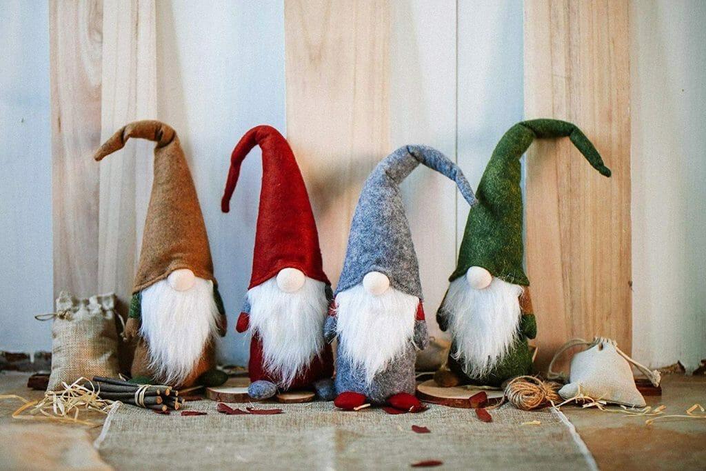 krasnale świąteczne z filcu