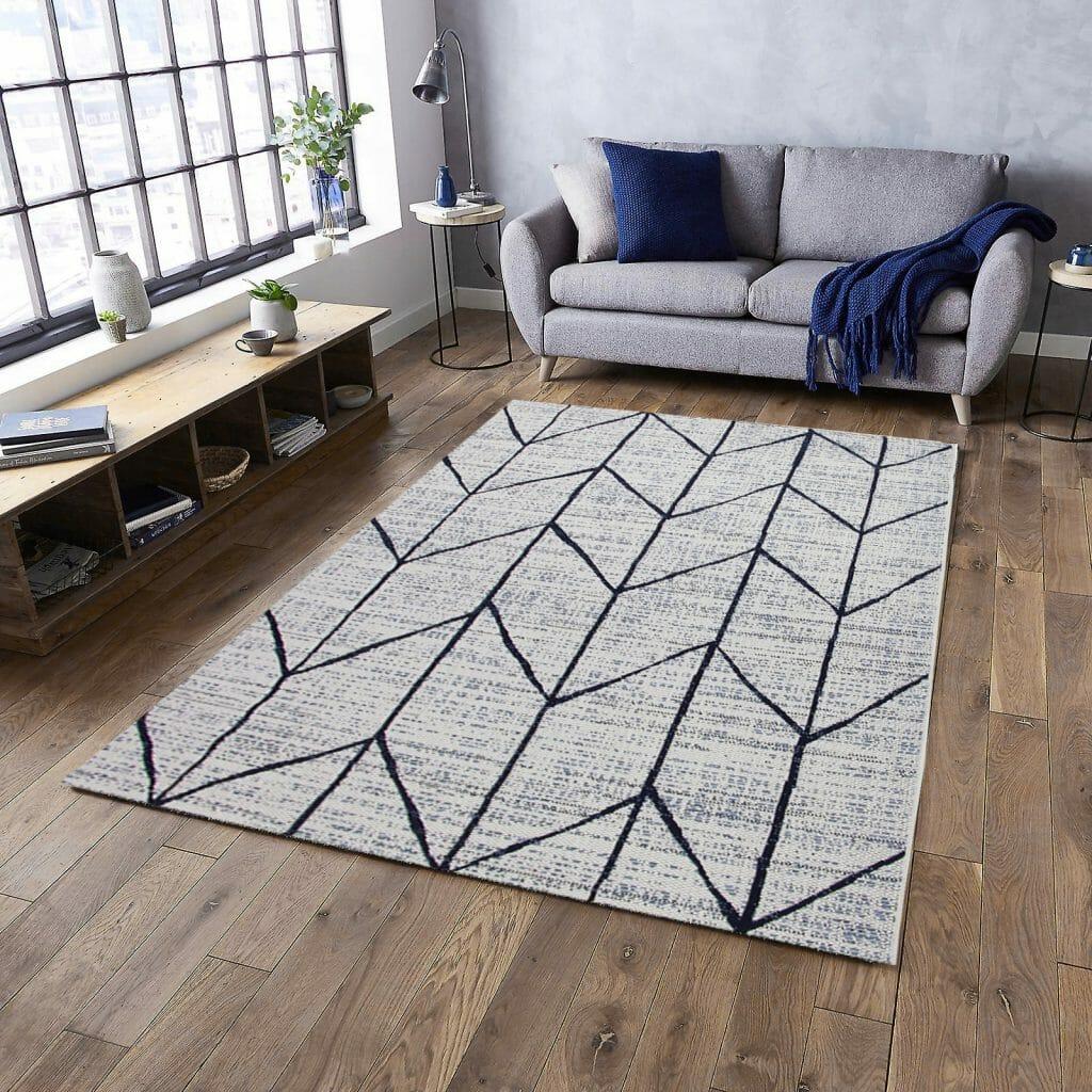 Nowoczesne dywany do salonu postarzany