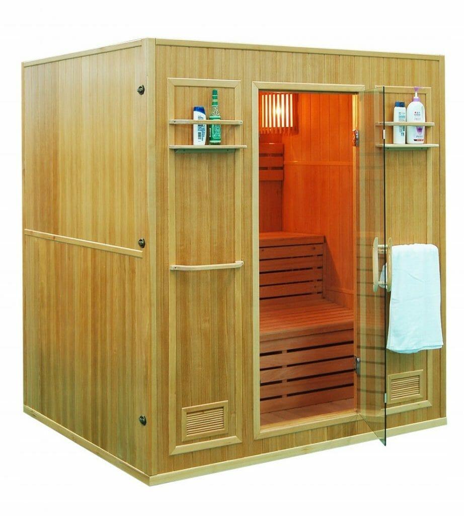 sauna sucha 4-os drewniana do domu