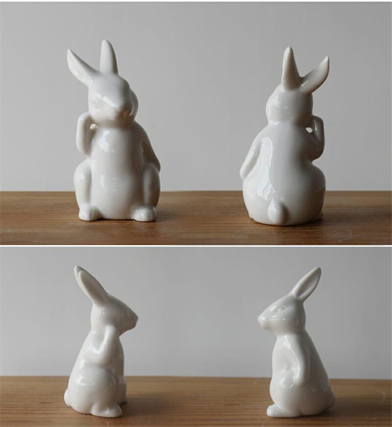królik ceramiczny wiosenne dekoracje domu