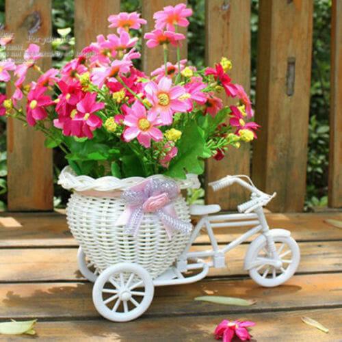 doniczka rower biała koszyk