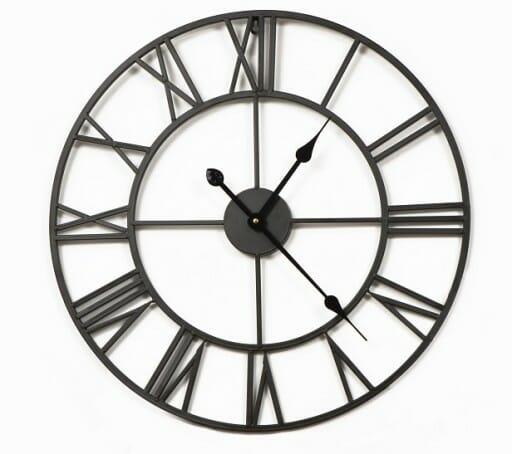 Duży metalowy zegar ścienny VINTAGE