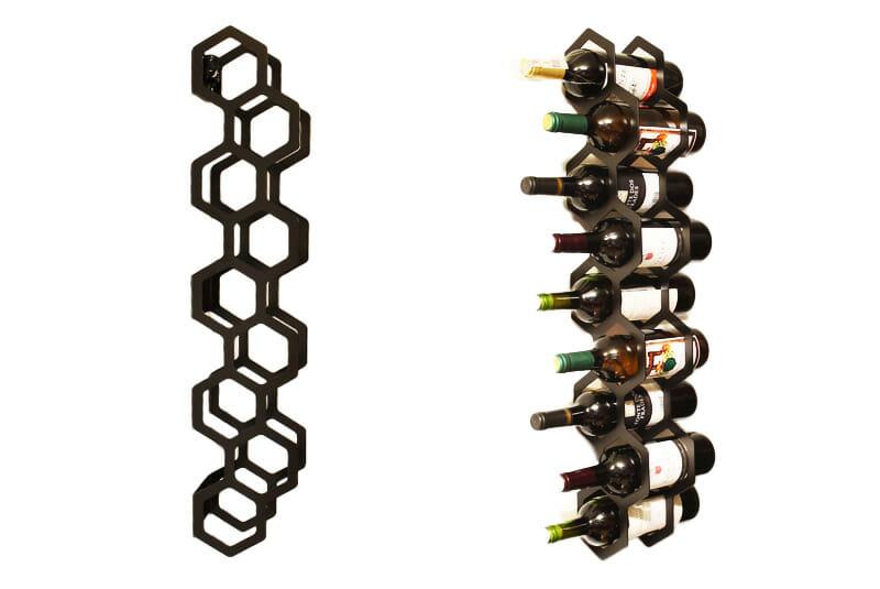 - Geometryczny wieszak na wino
