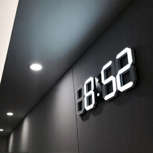 Zegar ścienny cyfrowy biały LED