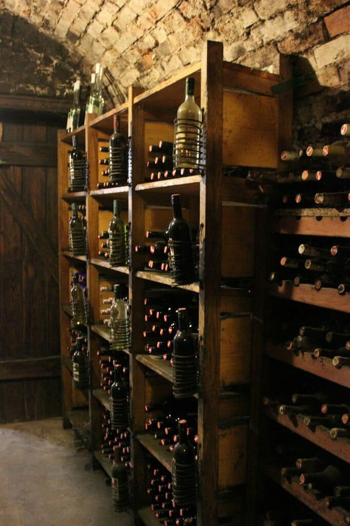 piwnica z winem