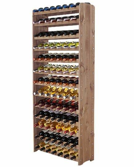 Ogromny drewniany regał na wino - aż 91 butelek