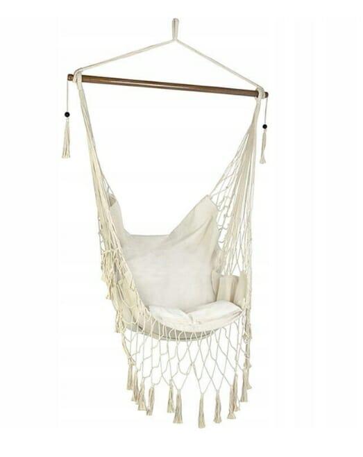 Krzesło brazylijskie w stylu boho z frędzelkami bohochic