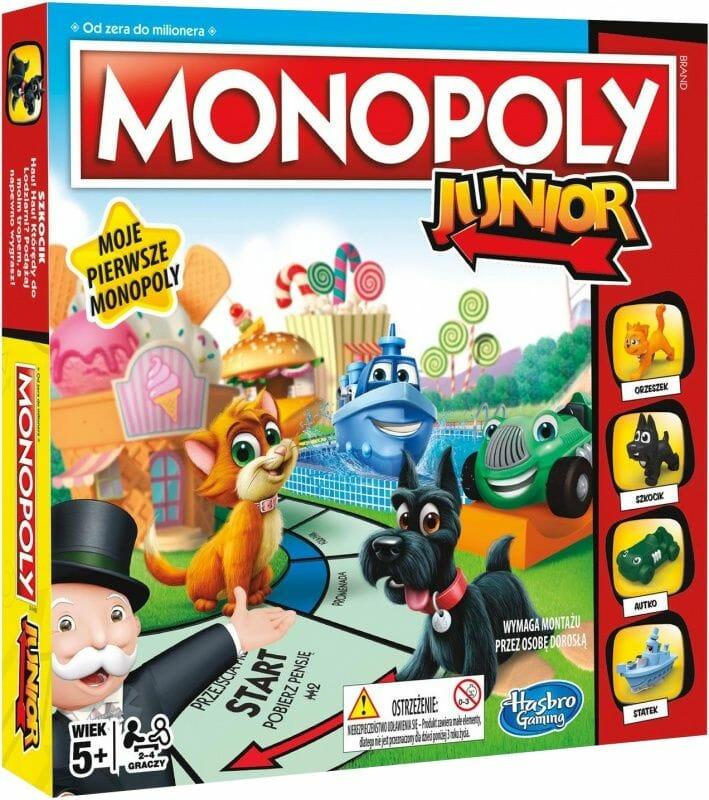 ranking najlepszych gier planszowych monopoly junior