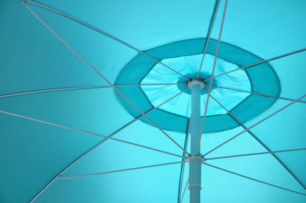 Parasol ogrodowy przeciwdeszczowy
