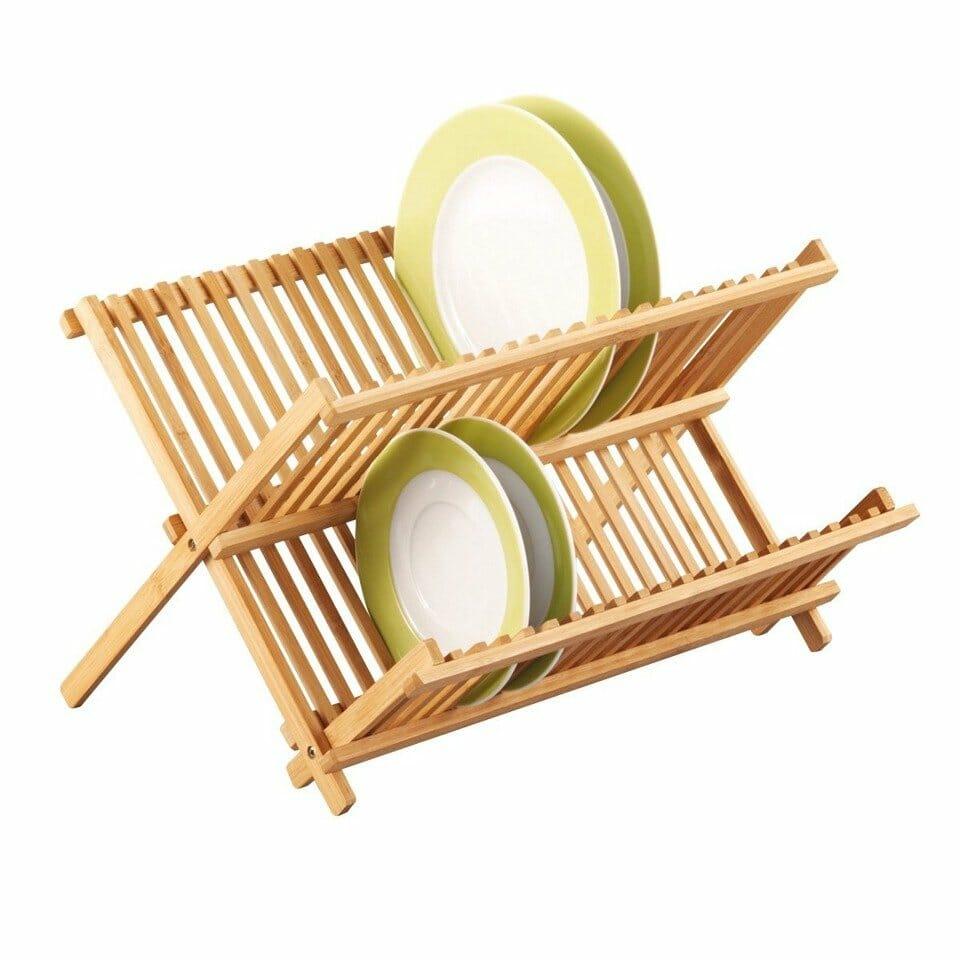 Suszarka do naczyń bambusowa ZELLER - dwupoziomowa suszarka na naczynia