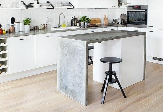 przedluzony blat stol w kuchni pomysly