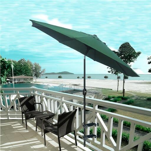Parasol balkonowy mocowany do barierki