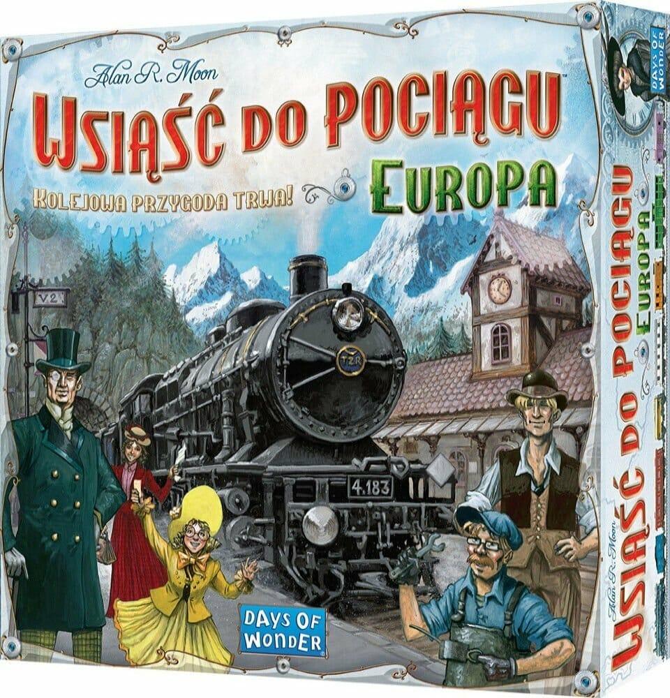 ranking gier planszowych Wsiąść do pociągu: Europa - familijna gra planszowa dla fanów podróży