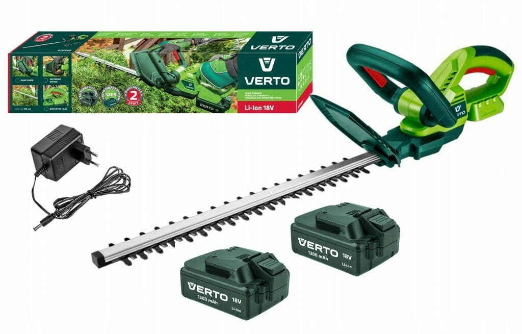 Nożyce do żywopłotu akumulatorowe Verto 52G568