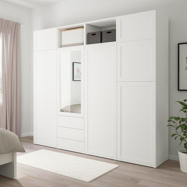 Ikea szafa z szufladami i lustrem Platsa