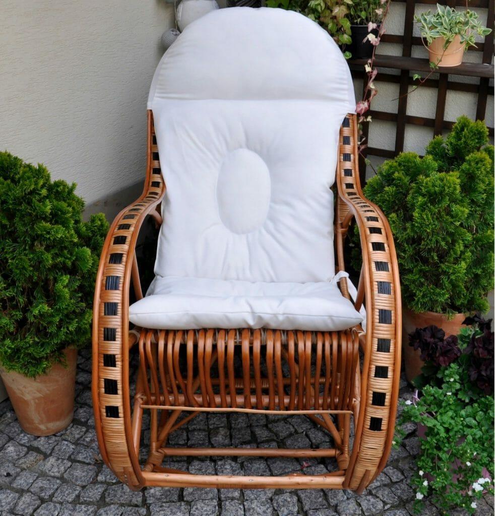 Bujany fotel z wikliny RUDNICKI I