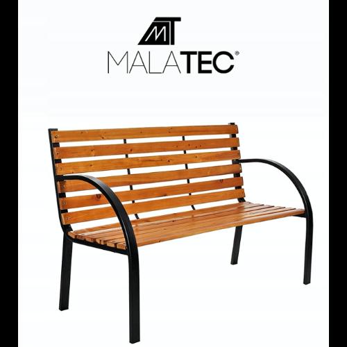 Ogrodowa ławka z drewnianym siedziskiem Malatec