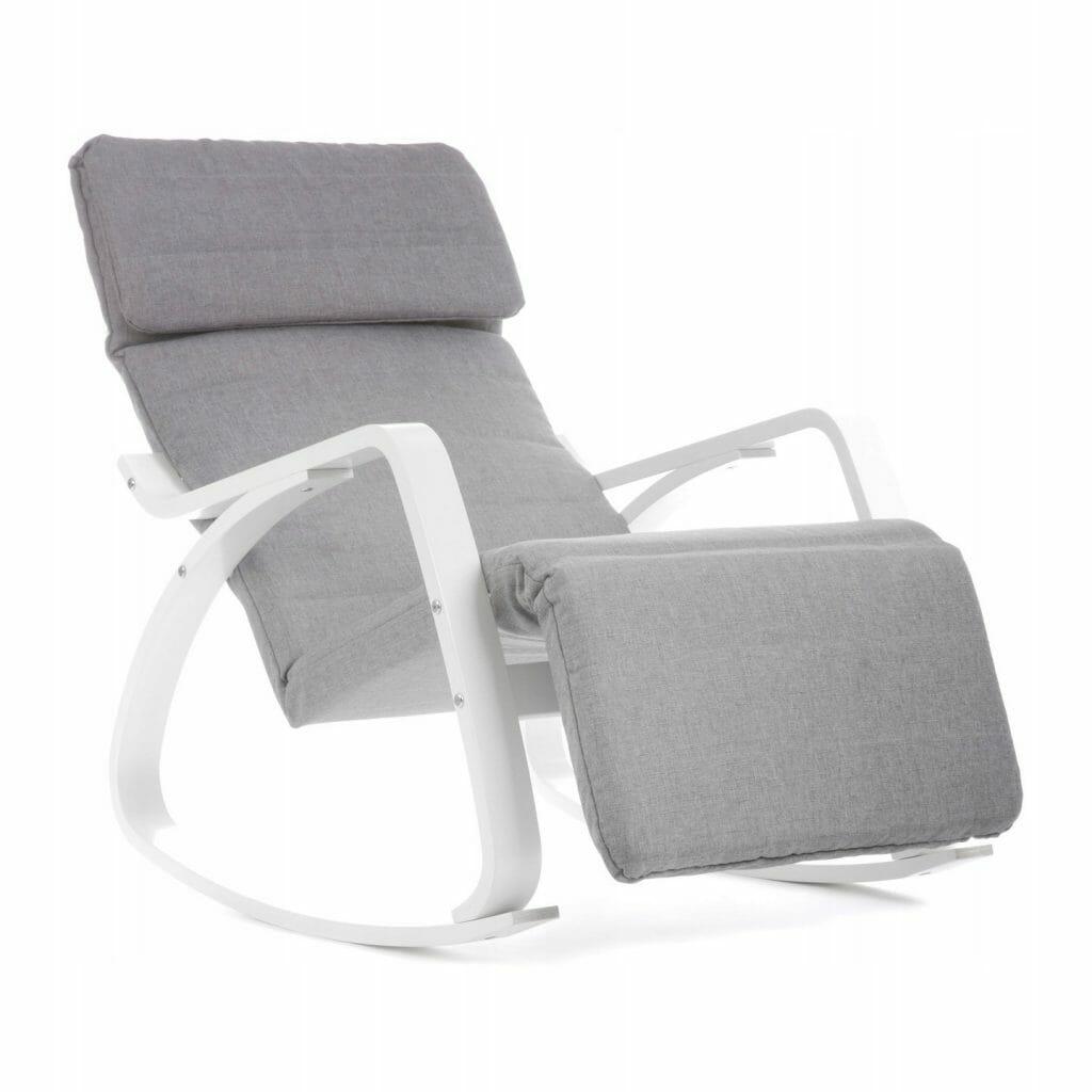 Fotel bujany z podnóżkiem VECOTTI OSCAR GREY/WHITE