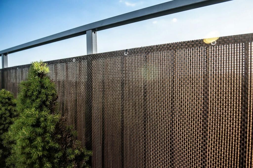 Osłona balkonowa - mata technorattan, brązowa, na wymiar