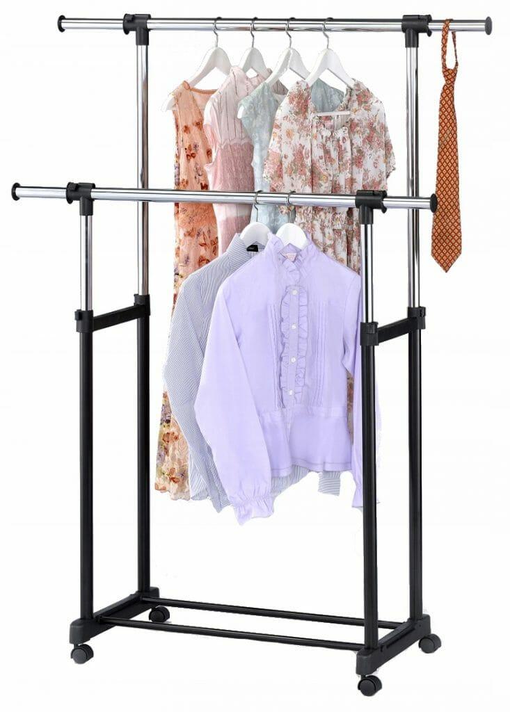 Stojący wieszak na ubrania na kółkach Otto Bis