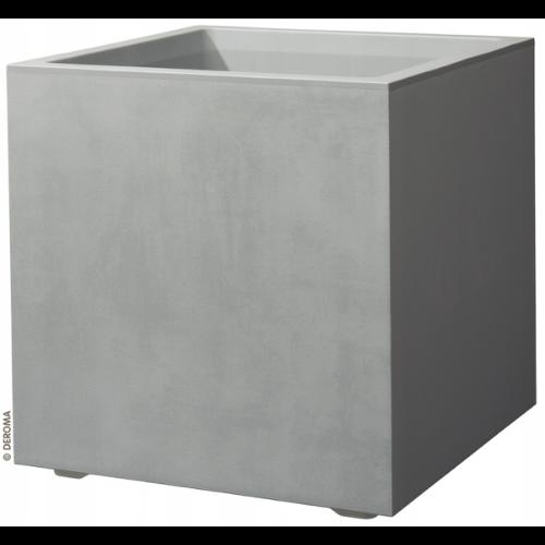Kwadratowa donica imitująca beton - Deromo Cubo Millennium