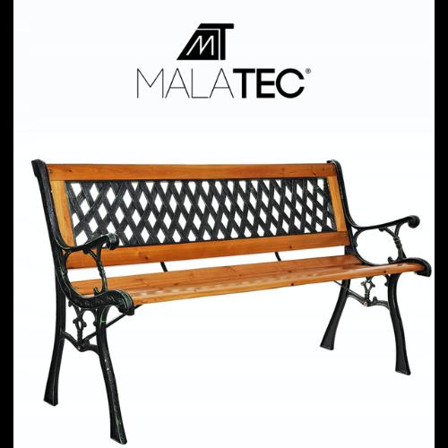 Ozdobna ławka z drewna i metalu Malatec