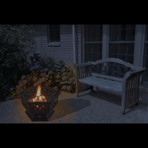 Palenisko ogrodowe + grill LUND 70 cm