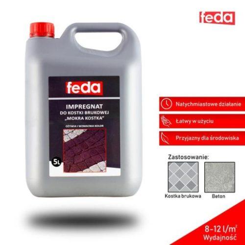 Impregnat do kostki brukowej Feda - efekt mokra kostka brukowa - 5L