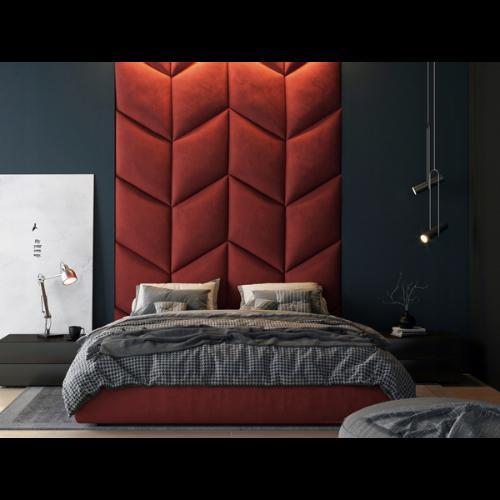 Panel ścienny tapicerowany Likma w kształcie rombu