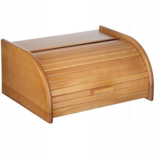 Drewniany chlebak w kolorze jasnego dębu