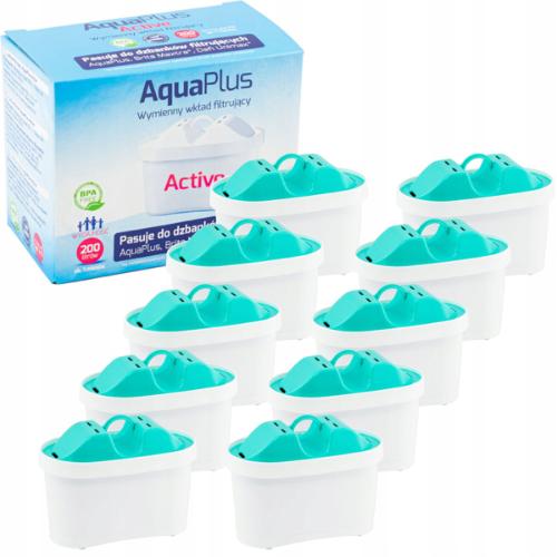 Filtr AquaPlus Active do dzbanków Brita i Dafi - 10 sztuk