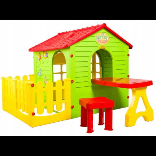 Domek ogrodowy z płotkiem dla małych dzieci Mochtoys