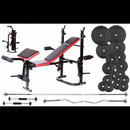 BeActive PH2132 - wielofunkcyjny zestaw do ćwiczeń z hantlami i ławką
