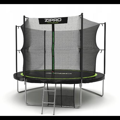 Wytrzymała trampolina ogrodowa z wewnętrzną siatką Zipro 312 cm