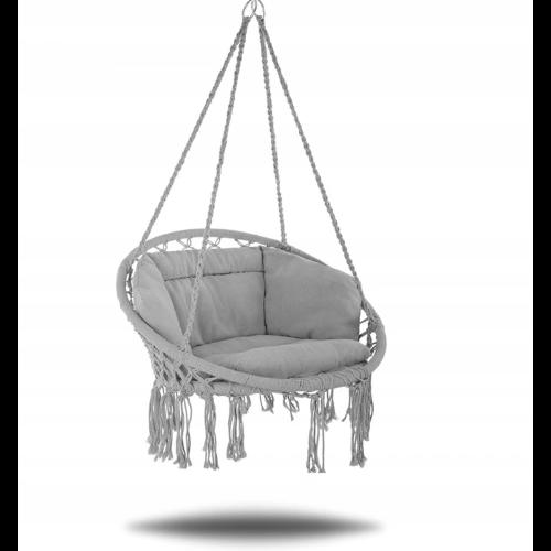 Huśtawka bocianie gniazdo dla dzieci z poduszką i oparciem
