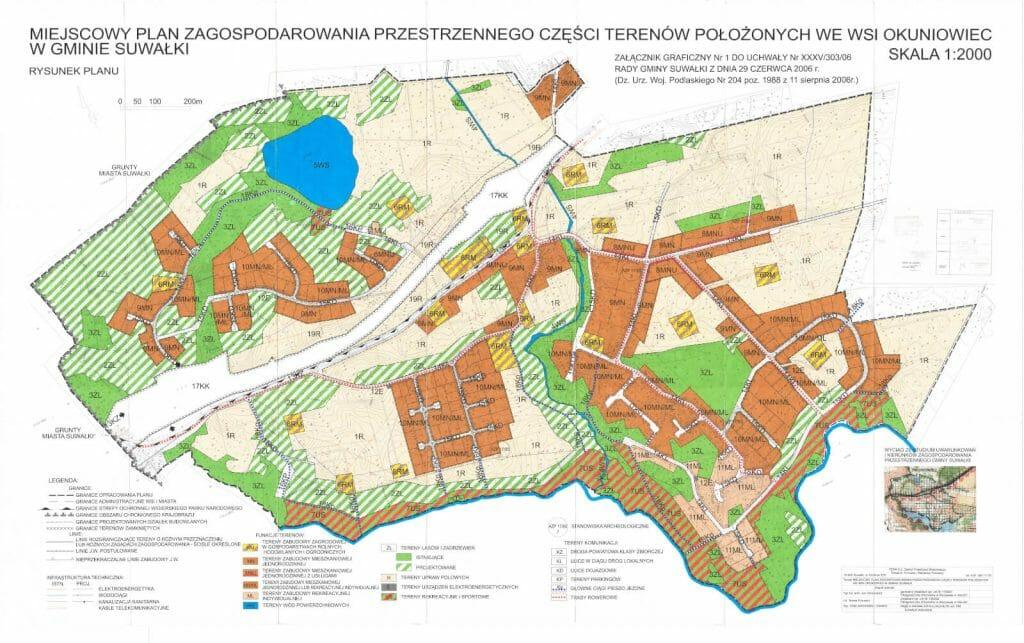 Mapa miejscowego planu zagospodarowania przestrzennego