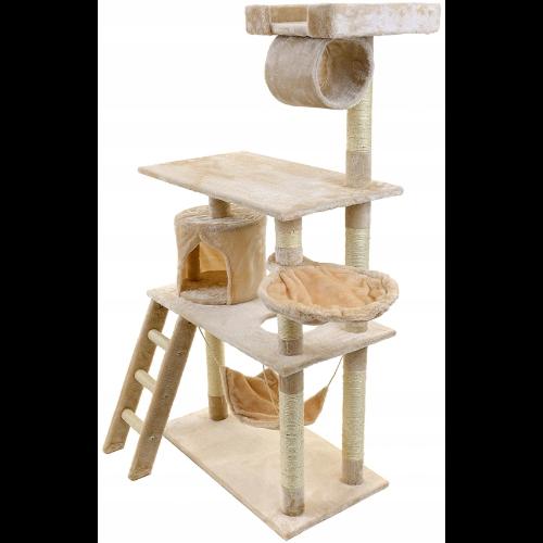 Domek dla kota z hamakiem i legowiskiem