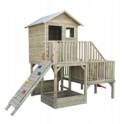 Domek drewniany ogrodowy dla dzieci z piaskownicą 4iQ Group Hubert