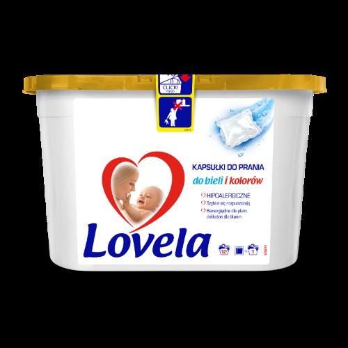Kapsułki do prania ubrań dziecięcych Lovela - hipoalergiczne i delikatne