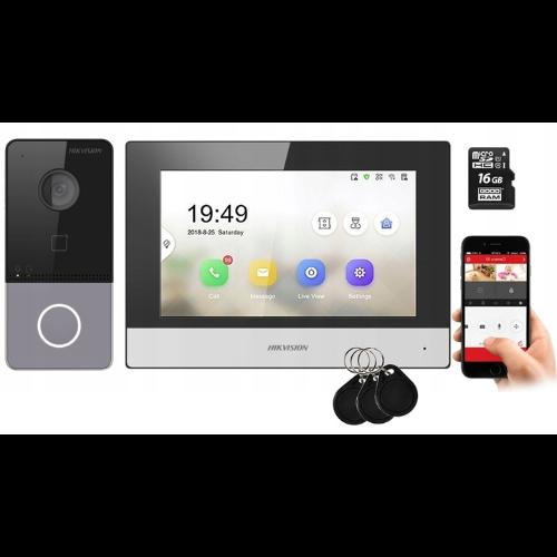 WIDEODOMOFON Video Domofon IP LCD HIKVISION + APKA