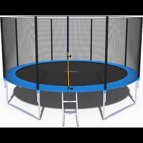 Duża trampolina ogrodowa z siatką Funfit 435 cm