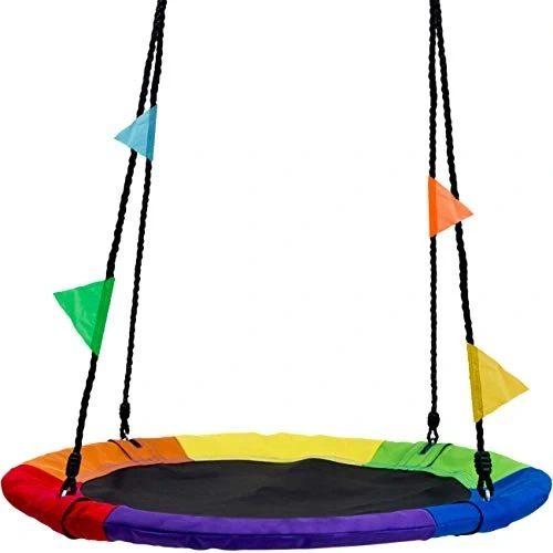 Kolorowa huśtawka bocianie gniazdo dla dzieci średnica 100cm, obciążenie 150kg